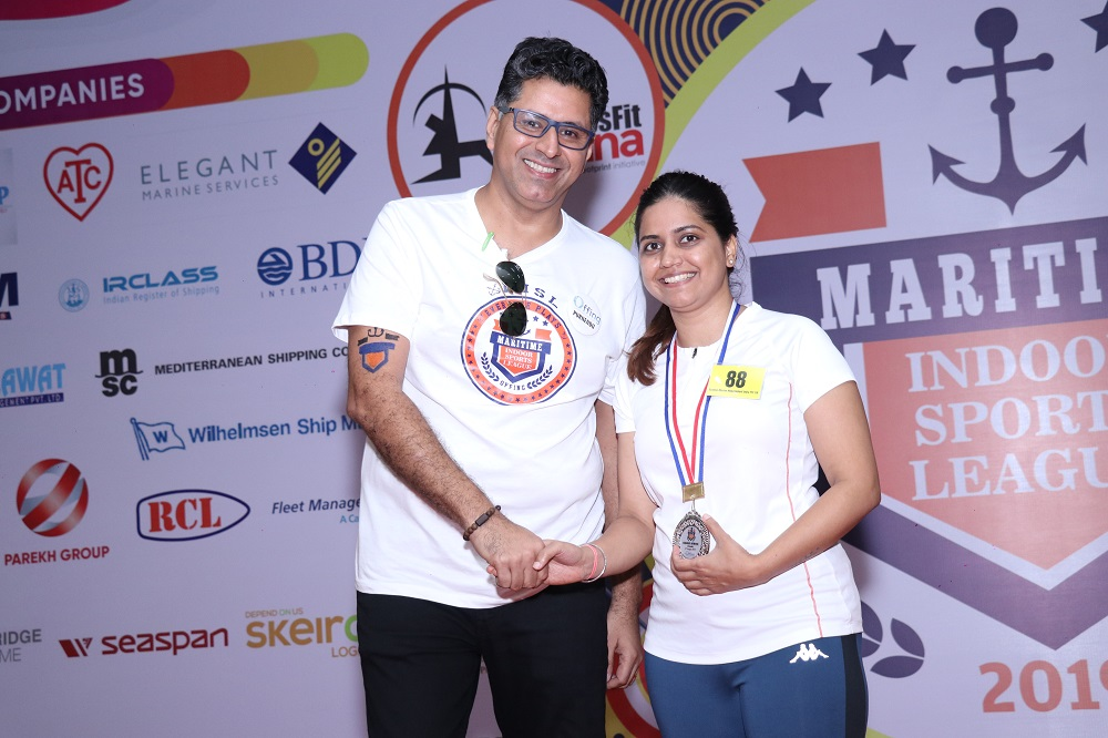 Runner - Up Indoor Rowing Female Kanchan Mamgai from Scorpio Marine Management India Pvt Ltd