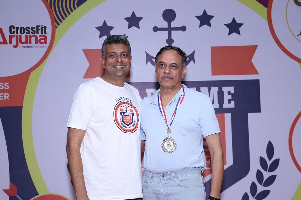 Runner - Up Table Tennis above 45 -Atul Mani Sharma from Indian Register of Shipping