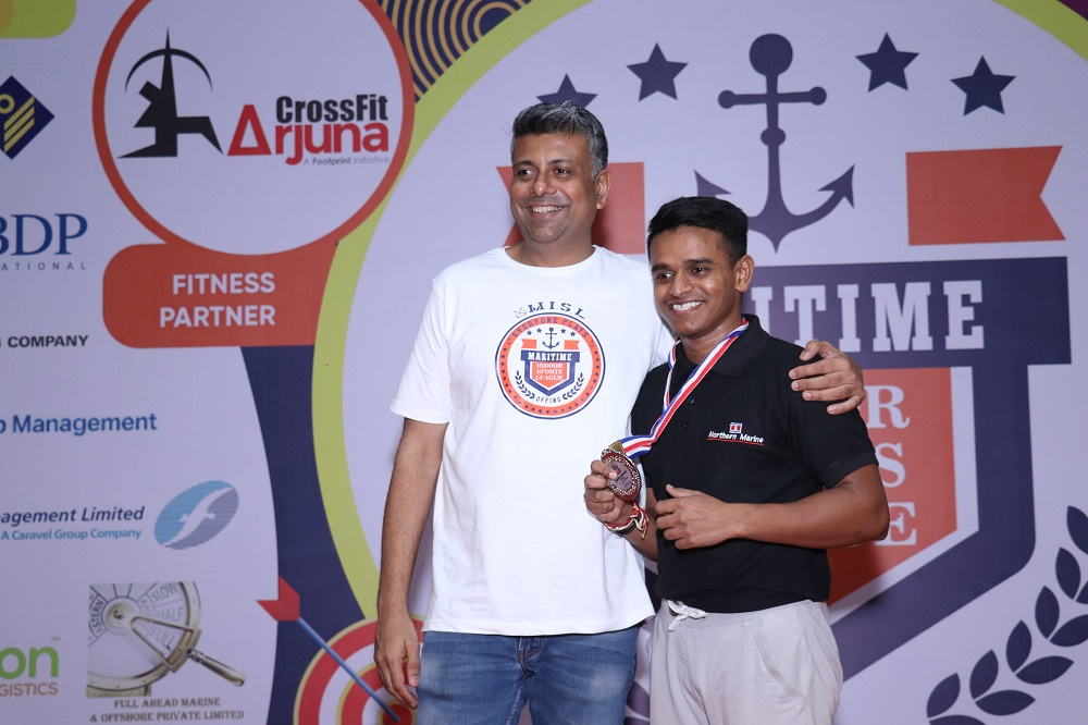 Runner-Up Indoor Rowing Male Manoj Pal(Northern Marine Management)