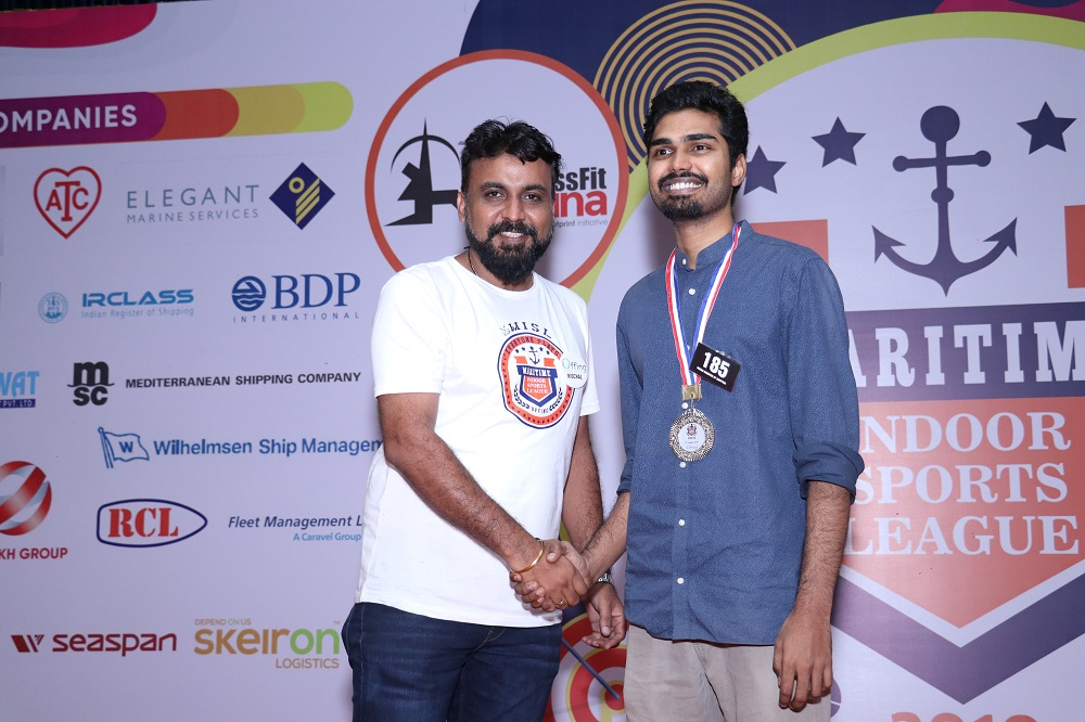 Runner- Up Chess B . Ravi Tej from Indian Register of Shipping