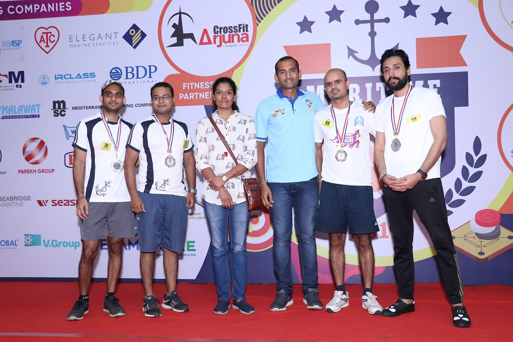 Runner- Up Indoor Rowing (Team ) Indian Register of Shipping