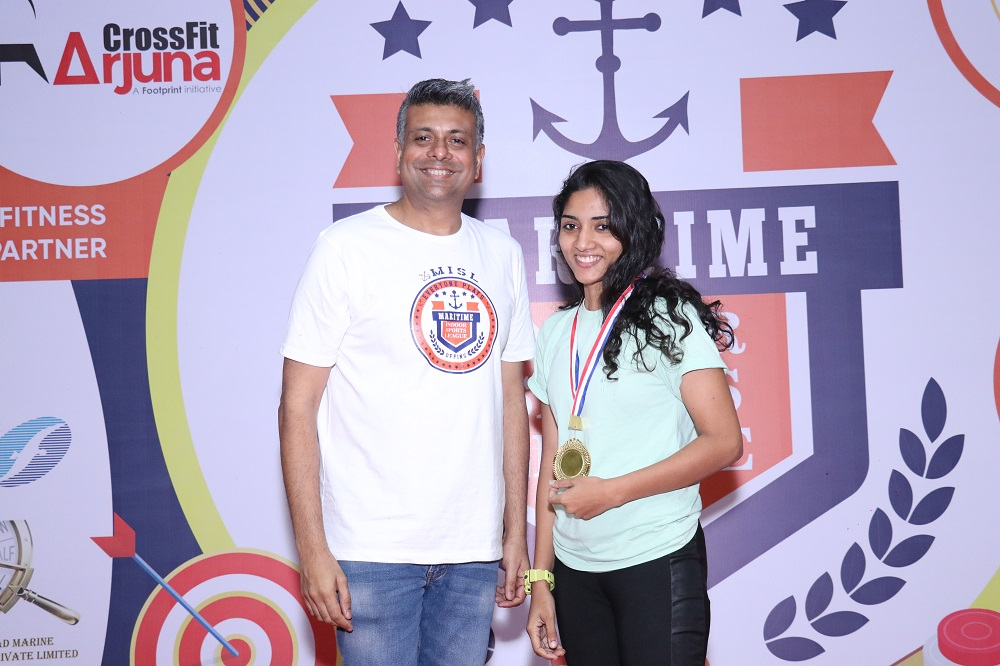 Winner Fitness Challenge Female Annette Mascarenhas <br/> Scorpio Marine Management India Pvt Ltd