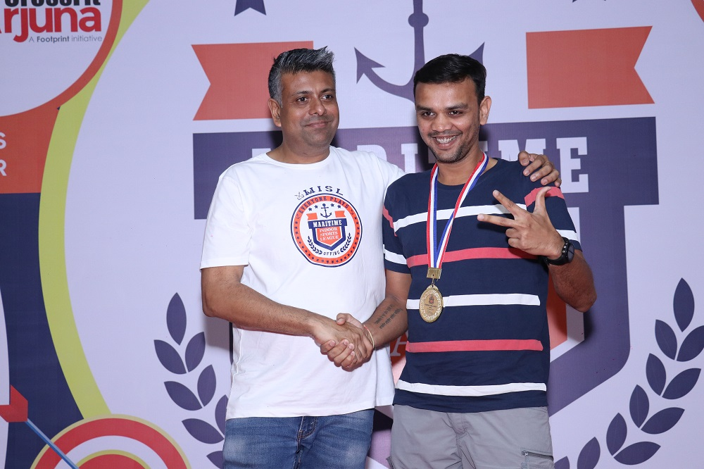 Winner Fitness Challenge Male Digant Trivedi from Scorpio Marine Management India Pvt Ltd