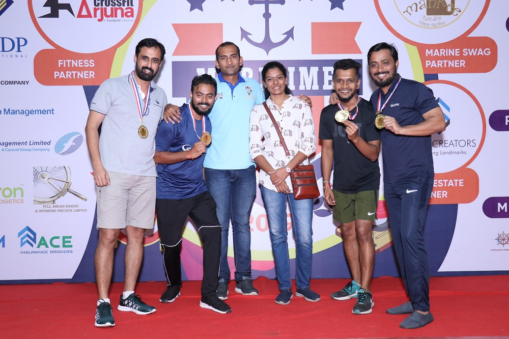 Winner Indoor Rowing (Team ) Scorpio Marine Management India Pvt Ltd