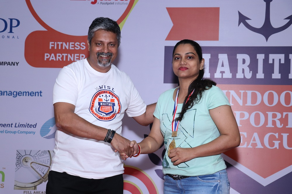 Winner Table Tennis Female  Pushpa Shinde from V.Ships India Pvt. Ltd (1)